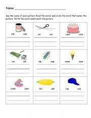 English Worksheets: C writing practice