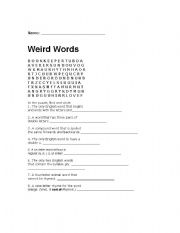 English Worksheets: Weird Words
