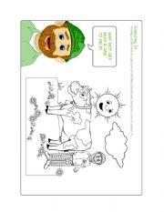 English Worksheets: play_games-colouring