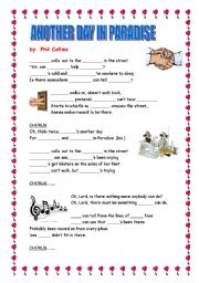 English Worksheets: Another Day in Paradise