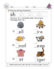 Words with SH - Phonics Activities and Printable Teaching ...