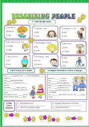English Worksheet: Physical description/Describing people-2