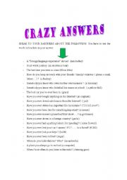 English Worksheets: Crazy answers