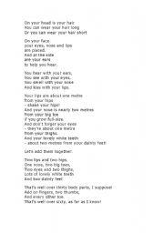 Body Parts Poem