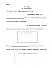 English Worksheets: Polygon Note-taking