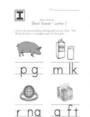 English Worksheets: Learn English P for  kindergarden