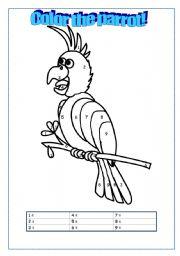 English Worksheets: Parrot