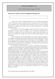 English Worksheets: Why aren�t Americans good foreign language learners?