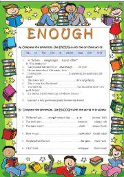 English Worksheets: ENOUGH
