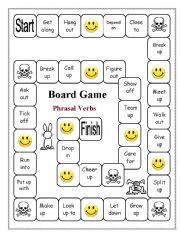 Phrasal Verbs Board Game