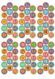 English Worksheet: Stickers