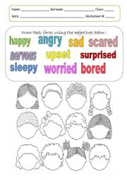 Worksheet Emotions Worksheets feelings emotions worksheet by mamalika english emotions