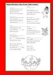 English Worksheet: happy Christmas by John Lennon