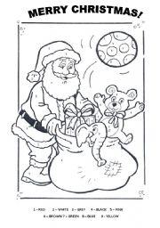 Santa Claus - colouring