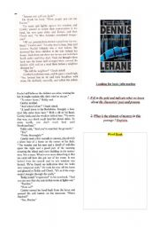 English Worksheets: SHUTTER ISLAND - EXTRACT FROM THE NOVEL