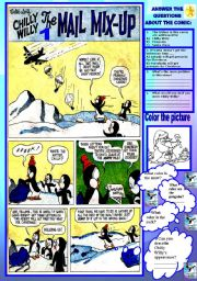 English Worksheets: COMIC - CHILLY WILLY THE MAIL MIX UP 1