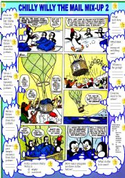 English Worksheets: COMIC - CHILLY WILLY THE MAIL MIX UP 2