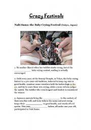 English Worksheets: Crazy Festivals