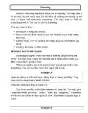 English Worksheets: Skimming