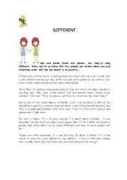 English Worksheets: DIFFERENT