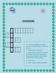 English worksheet: Crossword - Water