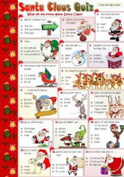 English Worksheet: SANTA CLAUS QUIZ