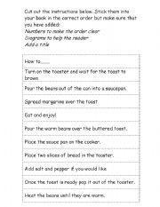 English Worksheets: Instructional writing