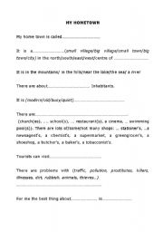 English Worksheets: My hometown