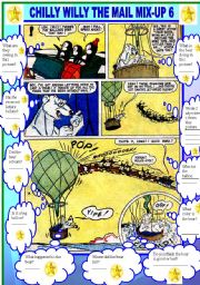 English Worksheets: COMIC - CHILLY WILLY THE MAIL MIX UP 6