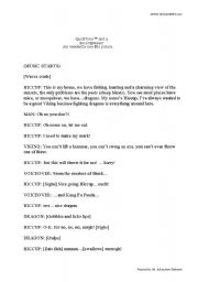 How To Train Your Dragon - Trailer Worksheet