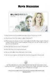 English Worksheets: Blindness Movie activity