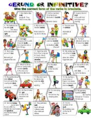 English Worksheets: GERUND or INFINITIVE?