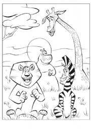 English Worksheet: MADAGASCAR- ABC puzzle (READ the instructions!)-1st part
