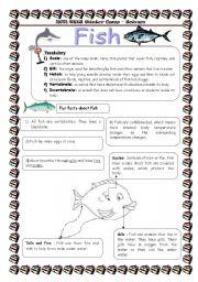 English Worksheets: fish