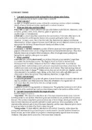 english worksheets literary terms. Black Bedroom Furniture Sets. Home Design Ideas