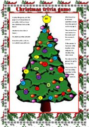 christmas trivia game question cards on page 2 to go with the christmas tree board game - Christmas Tree Game