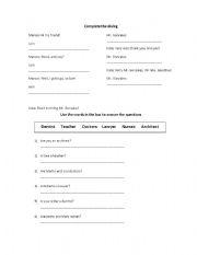 English worksheet: Exercises