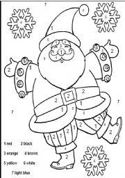 English teaching worksheets Santa Claus