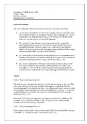 English Worksheet: Assignment 3 celta