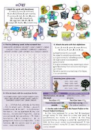 English Worksheet: MONEY