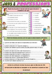 English Worksheets: Jobs and professions