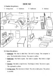 English worksheets Rooms in the House worksheets page 26