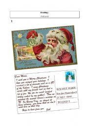 Christmas postcard from UK