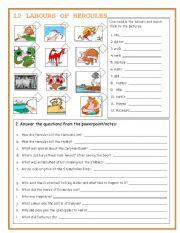 HERCULES worksheet - Free ESL printable worksheets made by teachers
