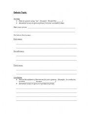 English teaching worksheets: Debate