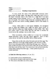 English Worksheets: animal text