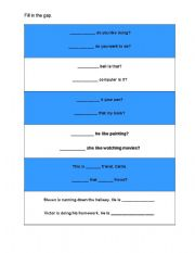 English Worksheets: Question gap fill