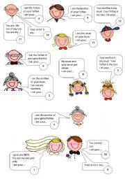 English Worksheet: FAMILY RELATIONSHIPS PUZZLE