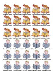 English Worksheets: tokens for readers