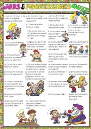 English Worksheets: Jobs and professions QUIZ